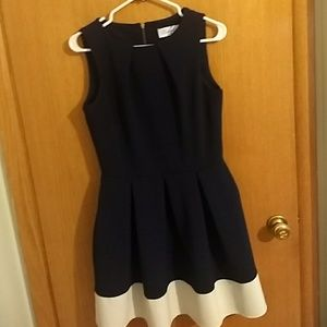 Closet navy fit and flare dress